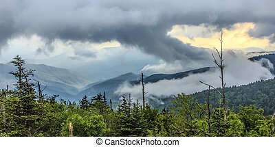 Natural Landscape from Clingmans Dome - The natural...