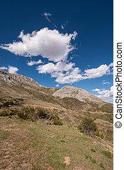 Natural landscape in Palencia mountains, Castilla y Leon, Spain.