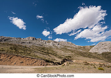 Natural landscape in Palencia mountains, Castilla y Leon, Spain.