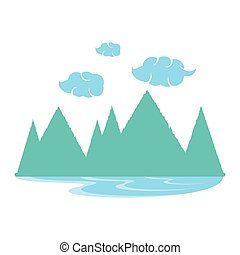 natural landscape isolated icon