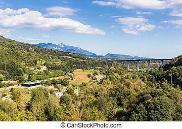 Natural landscape of La Garrotxa, catalonia.