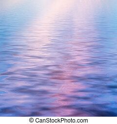sky at sunset reflected in water