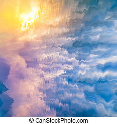 sky reflected in water