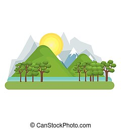 natural landscape with mountains