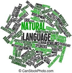 Natural language - Abstract word cloud for Natural language...
