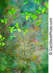 Natural leaves grunge beautiful, artistic background