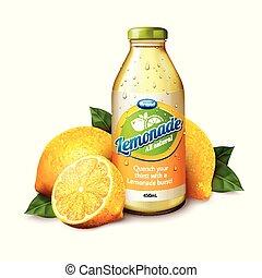 Natural lemonade juice - Isolated lemonade juice in glass ...