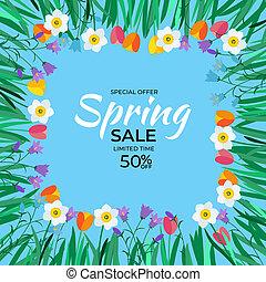 Natural Light Spring Sale Background. Illustration