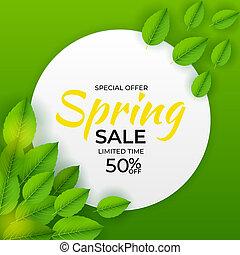 Natural Light Spring Sale Background. Illustration.