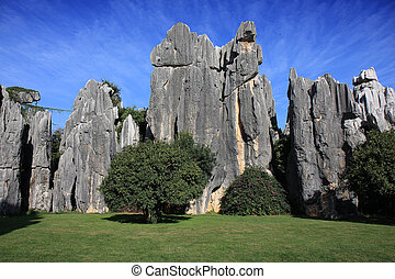Shilin Stone Forest National Park - Natural limestone...