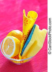 natural, limpeza, esponjas