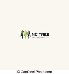 natural logo green tree logo growth 3 trees