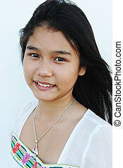 Natural looking Asian girl