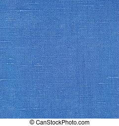 natural, luminoso azul, linho, fibra, linho, textura, detalhado, macro, closeup, rústico, amarrotado, vindima, textured, tecido, burlap, lona, padrão, áspero, fundo, espaço cópia