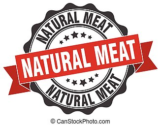 natural meat stamp. sign. seal