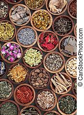 natural, medicina herbácea, seleção