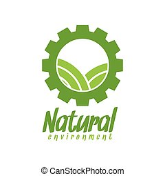 natural, meio ambiente, vetorial, desenho, modelo, logotipo