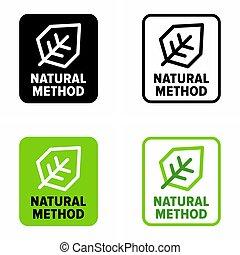 """Natural method"" remedy information sign"