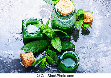 Natural mint essential oil