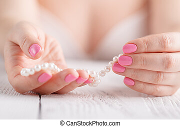 Natural nails, gel polish. Perfect clean manicure with zero...