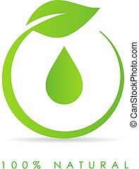 Natural oil drop icon