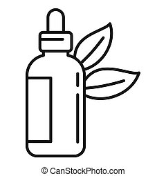 Natural oil dropper icon. Outline natural oil dropper icon for web design isolated on white background