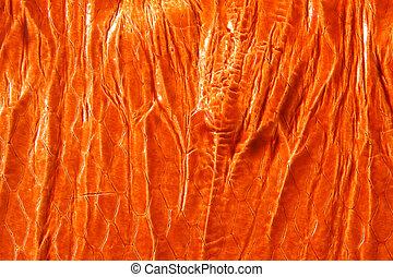 Natural orange leather