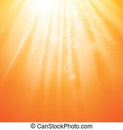 Natural Orange Vector Background