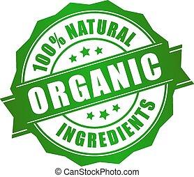 natural, orgánico, icono
