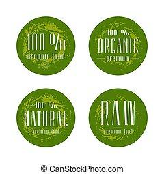 Natural organic food labels design