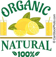 Natural organic lemon fruit poster