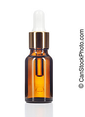 Natural organic oil on white background. - Natural organic...