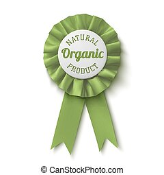 Natural, organic product. Realistic, green label.