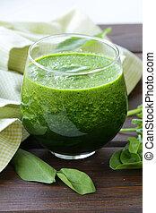 natural organic smoothie green
