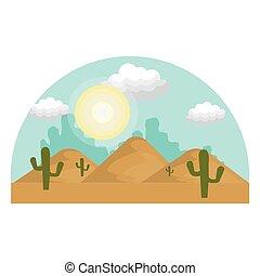 natural, paisagem deserto