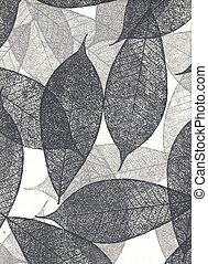 natural, papel, com, folhas, (hight, resolution)