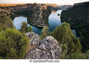 Natural park of Hoces del Duraton, Segovia, Castilla y Leon,...