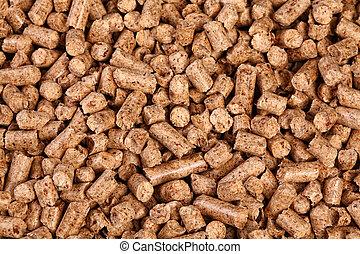 natural pellet - close up image of natural wood pellet...