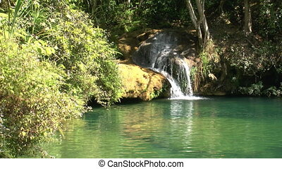 Natural pool in Topes de Collantes,
