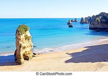 natural, portugal, d'ana, rocas, praia, lagos