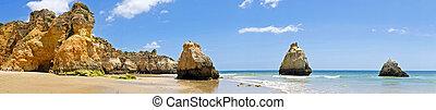 natural, portugal, irmaos, panorama, alvor, rocas, praia,...
