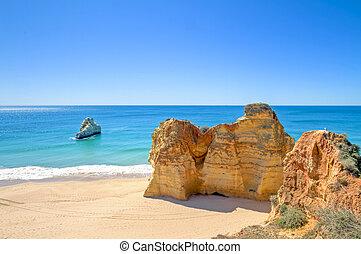 natural, portugal, rocas, praia, rocha, da