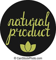 Natural product label with green leaves.