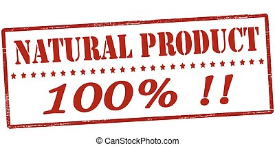 Natural product one hundred percent - Stamp with text...
