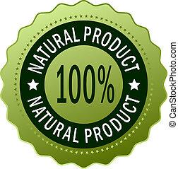 natural, producto, icono