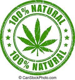 natural, produto, cânhamo