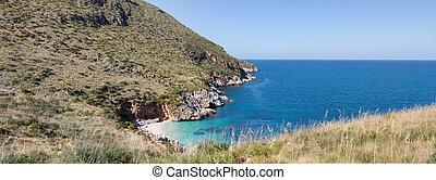 """Natural reserve """"Riserva dello Zingaro"""" in Sicily, Italy."""