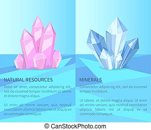 Natural Resources and Minerals Vector Illustration