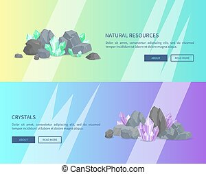 Natural Resources Crystals Among Rocks and Stones