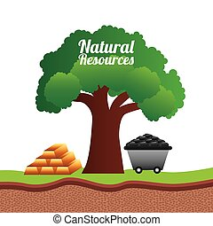 natural resources design, vector illustration eps10 graphic